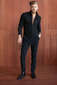 Cute jumpsuit, but I dont like how it's styled. Dark Fashion, Teen Fashion, Fashion Outfits, Fashion Trends, Style Casual, Men Casual, Moda Blog, Men Looks, Alternative Fashion