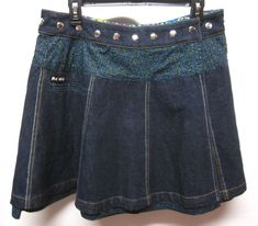 MOSHIKI HOT COOKIE '7 Denim Long' CIRCLE WRAP SKIRT NWOT sz 2-12 #Moshiki #CircleSkirt