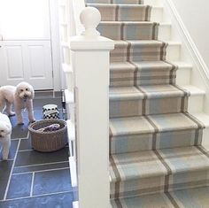 Stair Runners ~ Dash And Albert Have The BEST Range Of Hall Runners Which  Lend Themselves Perfectly To Be Used On Stairways. These Stairs Are  Beautifully ...