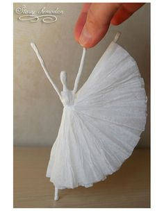 Como fazer Bailarina de arame e papel – Passo a Passo – Inspire sua Festa ®