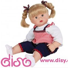 Gotz Navy Dungaree Outfit to fit 42-46cm Baby Dolls Maxy Aquini and Maxy Muffins