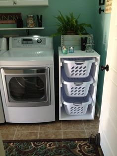 Nice Cute Laundry Room Storage Shelves Ideas To Consider. room organization baskets Cute Laundry Room Storage Shelves Ideas To Consider You are in the right place about DIY Laundry st Laundry Basket Holder, Laundry Basket Storage, Laundry Room Organization, Laundry Room Design, Laundry Shelves, Laundry Basket Dresser, Laundry Sorter, Storage Baskets, Laundry Room Baskets
