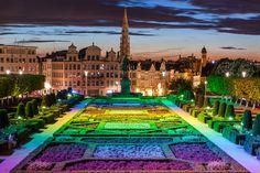 Garden of Mont des Arts Brussels - Belgium