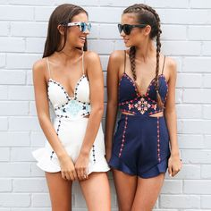 Cute as a button in our Globe Playsuits from Peppermayo.com