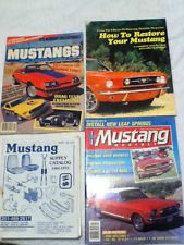 1980's How to Restore Your Mustang + 2 Magazines & Supply Catalog