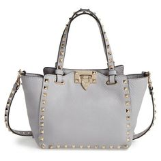 b2af33828903e0 Womens Valentino Rockstud - Mini Alce Leather Tote (86,495 DOP) ❤ liked on  Polyvore