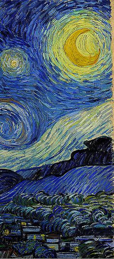 'Starry Night' detail 1889                                            Vincent van Gogh