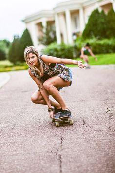 Skateboarding senior picture ideas for girls and guys. Skater pictures. #seniorpictureideas  #skateboardingseniorpictures #boardingseniorpictureideas