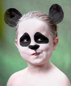 Wallpaper Make Up - Halloween Gesicht Make-up . Panda Makeup, Bear Makeup, Animal Makeup, Kids Makeup, Makeup Ideas, Makeup Tips, Panda Face Painting, Bear Face Paint, Cute Halloween Makeup