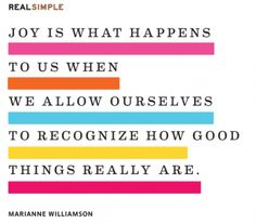 REAL SIMPLE   DAILY THOUGHT