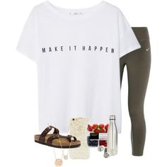 What do you do on long car rides??? by erinlmarkel on Polyvore featuring MANGO, NIKE, Birkenstock, Ippolita, BaubleBar, Adina Reyter, Forever 21 and S'well