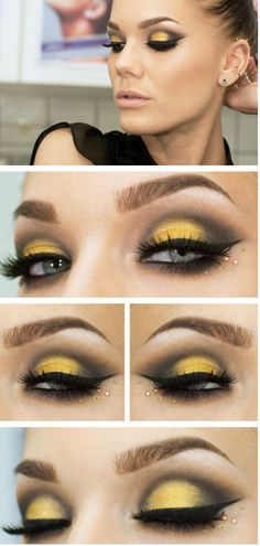 Yellow eye shadow. This would be PERFECT for Shocker basketball games!