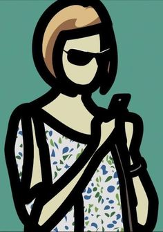 Julian Opie – Tourist with Blouse, 2014