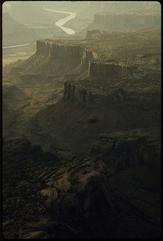 Dead Horse State Park and the Gorge of the Colorado River Showing the Spectacular Cliff and Mesa Topography That Give the Region Its Distinctive Character, Still Picture, Photo Maps, Colorado River, National Archives, Historical Images, Cliff, State Parks, Monument Valley, Airplane View
