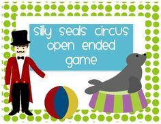 This FREEBIE is the Silly Seals Circus Game Board. Great for circus/carnival themed units. This product goes along with my expressive language circus packet. Instructions- This game can be used with any subject a student is working on. After answering a question correct the student gets a ball to put on the nose of a seal on their game board.