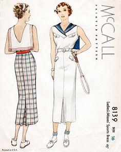 30er Jahre 1930er Jahre McCall Sport Kleid von LadyMarloweStudios