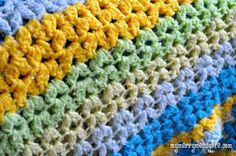 Learn to #crochet the cluster v-stitch with this step-by-step photo #tutorial  http://www.mymerrymessylife.com/2012/08/crochet-cluster-v-stitch-tutorial-free.html