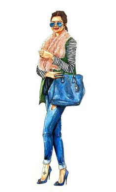 """Check out my art piece """"Fashion Illustration 3"""" on crated.com"""