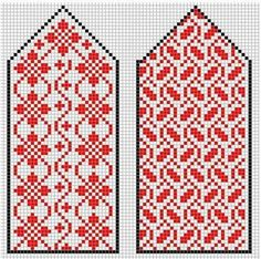 kirjoneulelapaset Knitted Mittens Pattern, Fingerless Gloves Knitted, Knitted Slippers, Knit Mittens, Knitting Socks, Knitting Charts, Knitting Stitches, Knitting Patterns, Chart Design