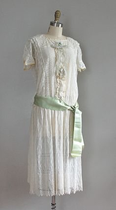 1920s drop waist lace dress