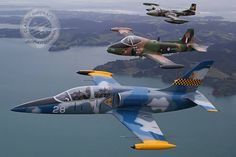 L-39 Albatros, BAC Strikemaster, and Cessna A-37 Dragonfly.