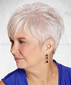 short hairstyles over 50 - short hairstyle for grey hair | trendy-hairstyles-for-women.com
