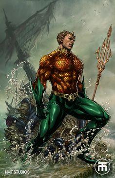 JLA: Aquaman by hmtstudios on DeviantArt
