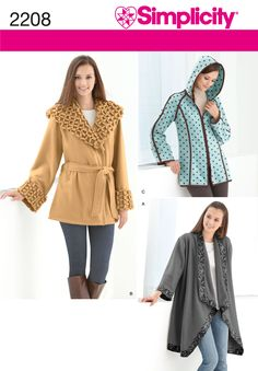 Simplicity Patterns /  Tops | Vests | Jackets | Coats /  2208