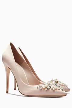 44e8a567507f Buy Blush Embellished Courts from Next Ireland