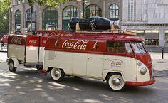 V.W Coca Cola Bus with Trailer