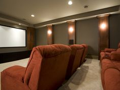 Excellent Image of Home Theater Room Design Ideas. Home Theater Room Design Ideas Home Theater Design Basics Diy Home Design, Home Theater Room Design, Home Theater Setup, Best Home Theater, At Home Movie Theater, Home Theater Rooms, Home Theater Seating, Design Ideas, Theater Seats
