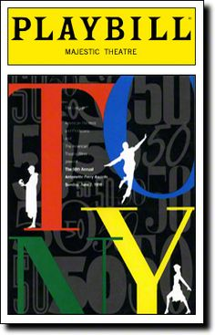 Playbill Cover for The 50th Annual Tony Awards - 1996 at Majestic Theatre