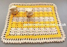Free crochet pattern centrepiece mat usa