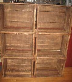 caisses de pommes sur pinterest tag res palettes bo te de fruits et tag re livres en caisse. Black Bedroom Furniture Sets. Home Design Ideas