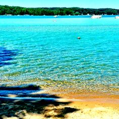 Torch Lake - undoubtedly one of the most spectacular lakes in the world - the deepest, most ethereal turquoise blue you could possible imagine.