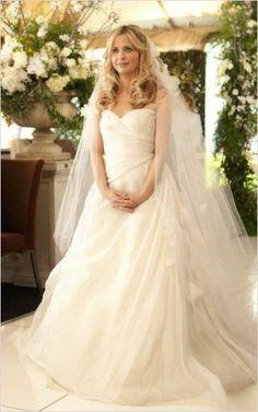 wedding dress, ringer,  Sarah Michelle Gellar
