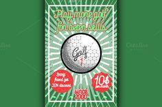 Color vintage golf poster @creativework247