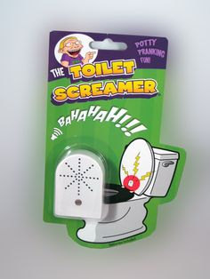 TOILET SCREAMER....... Attach the Toilet Screamer to the underside of the toilet lid and wait for an unsuspecting victim to use the restroom. As soon as they raise the lid..... BAHAHAHAH! www.theonestopfunshop.com