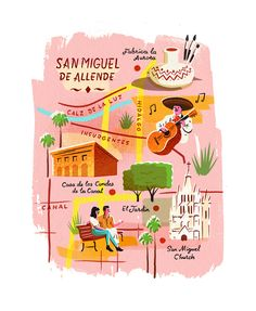 Map of San Miguel de Allende by Owen Gatley