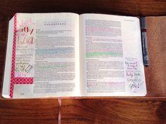 Washi Tape in Bible Journal