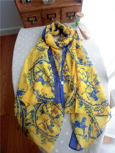 Morpheus Boutique  - Yellow Carriage Pattern Cotton Designer Shawl Long Scarf Wrap, CA$30.76 (http://www.morpheusboutique.com/new-arrivals/yellow-carriage-pattern-cotton-designer-shawl-long-scarf-wrap/)