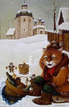 Grandes Artistas: Los preciosos cuadros infantiles de Alexander Maskaev