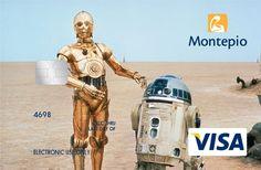 Personagens de Star Wars em cartões do Montepio