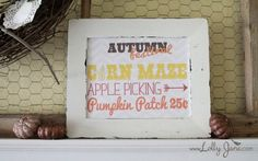 Rustic and charm in fall decor sign #diy #fall