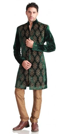 ffff, something for Vander to wear ALL THE TIME. VELVET GOLD SHERWANI