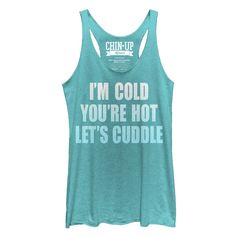 CHIN UP Women's - Let's Cuddle Racerback Tank #ChinUpApparel #winter #fitness #workout #cuddle