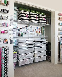 IHeart Organizing: The Ultimate Craft Closet Organization. Elfa. The container store