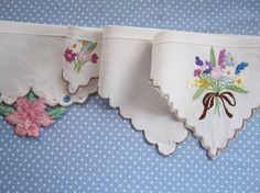 Vintage Linen Bunting  Garlands made from by buntingboutique