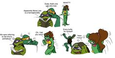 Mona Lisa smile TMNT by Lily-pily
