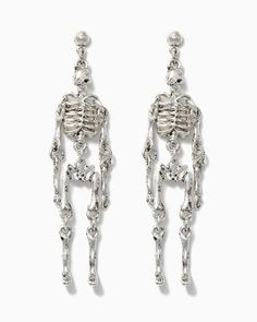 Skeleton Skuttle Earrings | #HauteHalloween | #charmingcharlie